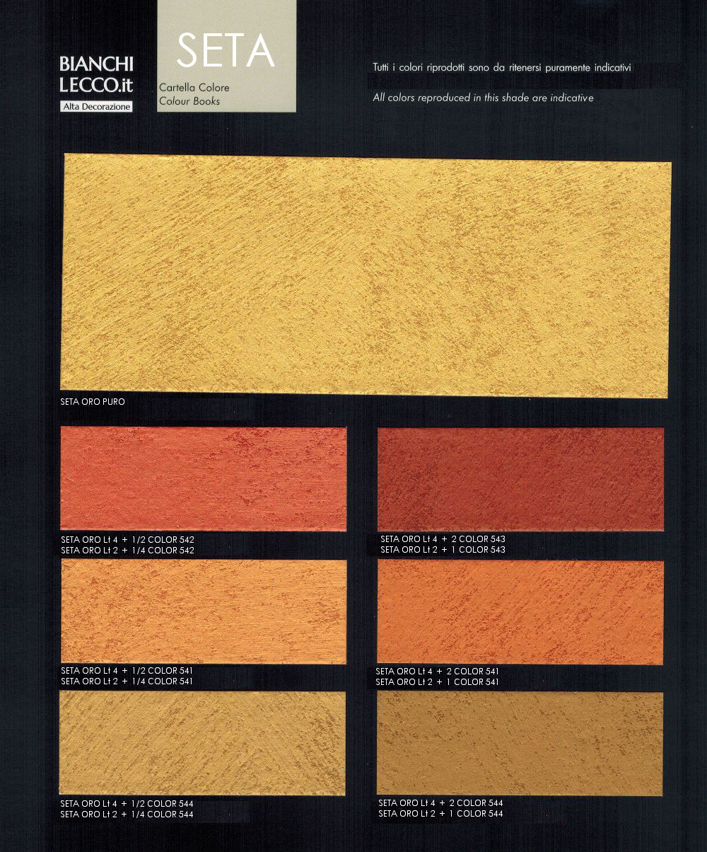 Decorazione perlescente seta effetto prezioso for Cartella colori pittura pareti