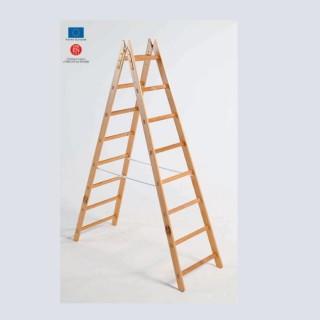 Scala legno doppia salita